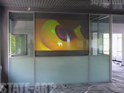 English introduction Frontal and back projection screens Back projection complex VISIOPLAN Multimedia projectors Interactive systems Switching facilities Design – studio Metal- working department. Production of metal structures decorative metal plates
